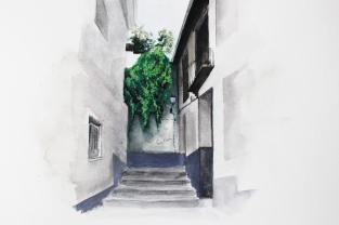 Watercolour on paper, A4, May 2017