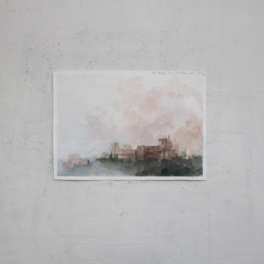 Watercolour on paper, A5, Feb 2018.