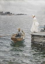 Sommarnöje_(1886),_akvarell_av_Anders_Zorn